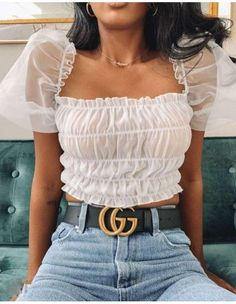 Discover recipes, home ideas, style inspiration and other ideas to try. Crop Top Outfits, Mode Outfits, Cute Casual Outfits, Simple Outfits, Stylish Outfits, Summer Outfits, Girl Outfits, Fashion Outfits, Booties Outfit
