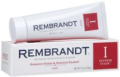 Rembrandt Toothpaste Intense Stain Removal, Mint - oz for sale online Whitening Fluoride Toothpaste, Best Teeth Whitening Kit, Natural Teeth Whitening, Remedies For Tooth Ache, Tooth Sensitivity, Smile Makeover, Teeth Bleaching, Dental Supplies, Rembrandt