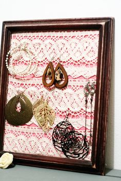 Cool way to store dangly earrings