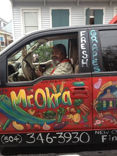 Mr. Okra rolls through the streets of New Orleans selling fruits & veggies and singing his famous song...