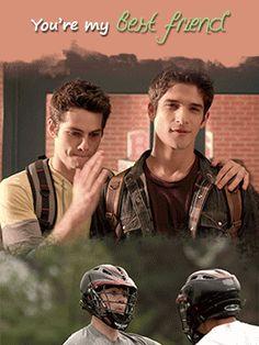 Teen Wolf - Scott and Stiles - Sciles gif - 92 DAYS UNTIL TEEN WOLF SEASON 6