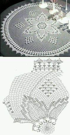 Filet Crochet, Crochet Doily Diagram, Crochet Doily Patterns, Crochet Round, Crochet Chart, Thread Crochet, Crochet Motif, Crochet Lace, Crochet Tablecloth Pattern
