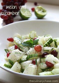 Melon and Cucumber Salad