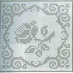 Watch The Video Splendid Crochet a Puff Flower Ideas. Phenomenal Crochet a Puff Flower Ideas. Crochet Motif Patterns, Filet Crochet Charts, Crochet Squares, Crochet Designs, Crochet Stitches, Cross Stitch Patterns, Crochet Puff Flower, Crochet Flowers, Crochet Tablecloth