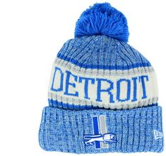 3ba01162cd3 New Era Boys  Detroit Lions Sport Knit Hat - Blue Adjustable