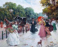 Juan Soler, 1951 ~ Parisian Street Scenes | Tutt'Art@ | Pittura * Scultura * Poesia * Musica |