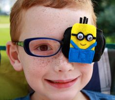 Minion Dave Eye Patch with Sleeve for Injury or Lazy by SuperEyes, $11.50