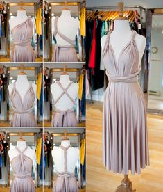 ideas on how to wear a convertible multiway dress, backless dress, summer dresses