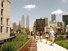A freight railroad track turned greenery--The Highline--allows locals and tourists a fresh perspective of ever-evolving New York.