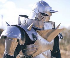 Impress everyone at the costume party when you show up as the embodiment of Alphonse Elric in this Full Metal Alchemist steel armor. It's made of steel, metal, and leather for maximum authenticity while allowing you to comfortably walk around and sit.