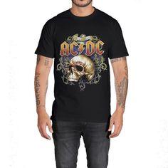 76e679de465 ACDC Skull T-Shirt. Mens ...