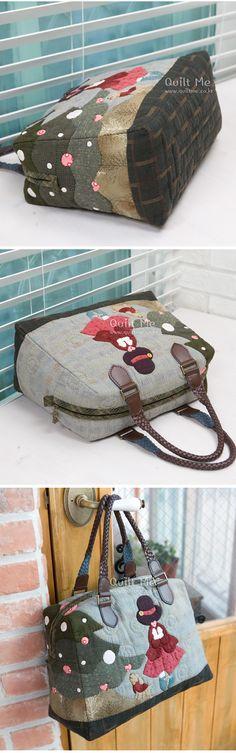 cute purse 퀼트미 [겨울이야기 보스턴 토트백]