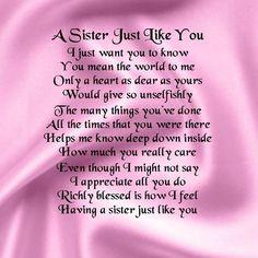 sister poems birthday - Google Search