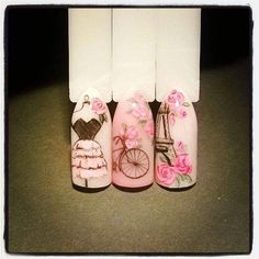 """Find out additional relevant information on """"acrylic nail art designs rhinestones"""". Look at our internet site. Paris Nail Art, Paris Nails, Silver Glitter Nails, Glitter Nail Art, Pink Nail Art, Gel Nail Art, Vintage Nail Art, French Tip Nail Art, French Tips"""
