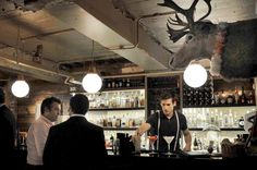Walk through a refigerator door in the café upstairs and down a dimly lit staircase, and you'll find yourself in this entertainingly decorated and none-too-serious speakeasy-style bar. Our full review: http://www.timeout.com/london/bars-pubs/mayor-of-scaredy-cat-town