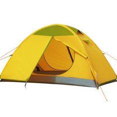 GAZELLE OUTDOORS 1-Person 2-Layer Camping Tent - YELLOW #GAZELLEOUTDOORS
