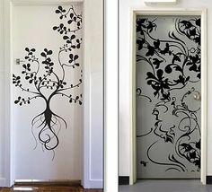wall door decals | Door stickers Wall Decals, Wall Art, Door Stickers, Aluminium Doors, Print Patterns, Pattern Design, Stationery, Wallpaper, Interior