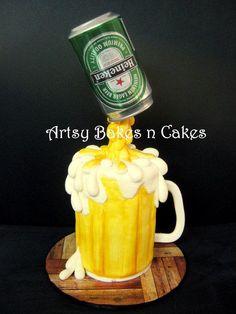 Heineken Beer Mug Cake