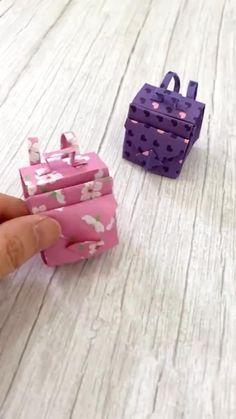 Cool Paper Crafts, Paper Crafts Origami, Diy Crafts Hacks, Diy Crafts For Gifts, Creative Crafts, Instruções Origami, Ideias Diy, Diy Doll, Diy For Kids