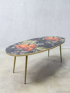 mid century modern vintage design coffee table, vintage design salontafel koffietafel jaren 50 60