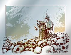 """this has to be one of my most favorite pins EVER. Bender! """"exterminate all humans"""" by eric michael hancock"""