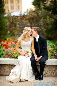 Cute bride and groom shot #brideandgroom #wedding http://www.roughluxejewelry.com/
