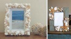 Καλοκαιρινές κατασκευές με κοχύλια: 13 εντυπωσιακές ιδέες - El Deco Frame, Home Decor, Art, Coral, Snails, Shells, Souvenir, Picture Frame, Art Background