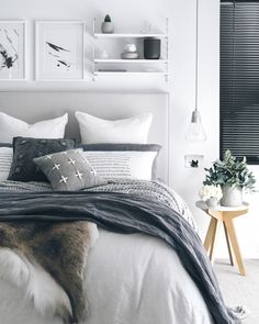Grey and White Bedroom White Bedroom, Home Bedroom, Cheap Bed Sheets, Calming Bedroom, Home Decor, Bedroom Inspirations, Luxury Bedding Sets, Bed, Fresh Bedroom