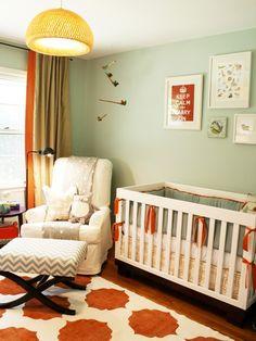 beautiful nursery ideas dream nurseries gender neutral baby orange teal