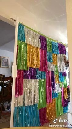 Disco Party Decorations, Diy Birthday Decorations, Diy Birthday Backdrop, Rainbow Decorations, Backdrop Ideas, Decor Photobooth, Colorful Birthday Party, Mexican Party, Diy Party