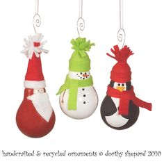 ornaments from lightbulbs