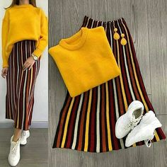 Ideas For Skirt Hijab Casual Sweaters – Hijab Fashion Hijab Casual, Hijab Outfit, Hijab Fashion Casual, Modest Outfits, Skirt Outfits, Chic Outfits, Trendy Outfits, Fashion Outfits, Womens Fashion
