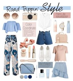 Road Trippin' Style by stylemaven2 on Polyvore featuring polyvore fashion style Valentino Chloé Topshop Loeffler Randall Kate Spade Narciso Rodriguez Marc Jacobs Chanel Philip Kingsley Drybar Burberry clothing travel mixnmatch roadtrip colorcoordinate packlite