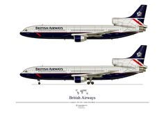 British Airways L1011. Librea posterior a la privatización de la aerolínea