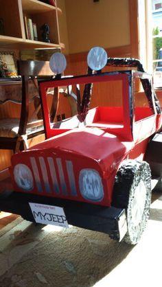 Widget Worm Cardboard Jeep King Of The Jungle