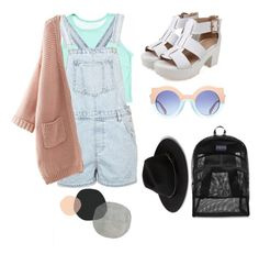 """""""Pastel Pictures"""" by melixgarden ❤ liked on Polyvore featuring Topshop, JanSport and MANGO"""