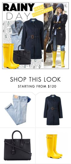 """Reese Witherspoon's Rainy Day Style"" by gabygrach ❤ liked on Polyvore featuring MICHAEL Michael Kors, Yves Saint Laurent, Hunter, michaelkors, rainyday, hunter, polyvoreeditorial and polyvorecontest"