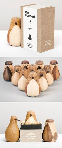 Turned birds by Lars Beller Fjetland for Hem. Norwegian designer Lars Beller Fjetland's twin obsessions—nature and sustainability—collide in Turned, his adorable collection of carved wooden birds. Taking a single piece of leftover mahogany, Fjetland brings these charming little things to life by way of a lathe.