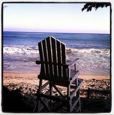 Mitchell's absence was felt by the seagulls, the beachcombers and the waves that rolled up to his chair each morning to greet him. Play the game at onesentenceperiod.com