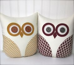 Hey, I found this really awesome Etsy listing at https://www.etsy.com/listing/211456270/owl-pillow-gold-owl-pillow-burgundy-owl