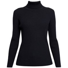 Rumour London - MIA Ribbed Turtleneck Sweater (600 BRL) ❤ liked on Polyvore featuring tops, sweaters, long sleeves, shirts, turtleneck long sleeve shirt, long sleeve shirts, turtleneck shirt, long-sleeve shirt and turtleneck sweater