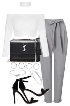 """Untitled #2646"" by theeuropeancloset ❤ liked on Polyvore featuring Phase Eight, Yves Saint Laurent, ASOS, Boohoo, Collette Waudby and Swarovski"