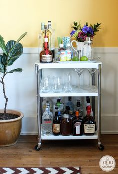 Bar Cart Styling - Inspired by CharmInspired by Charm
