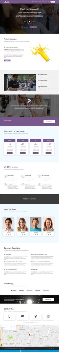 ARTevent - Unbounce Template Unbounce Templates Pinterest - project summary template