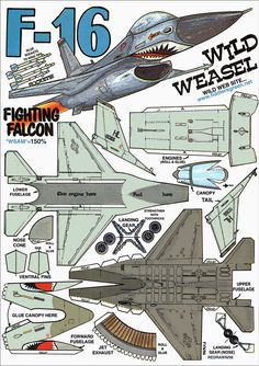 F-16 Fighting Falcon : Instruction http://www.fiddlersgreen.net/models/aircraft/General-Dynamics-F16.html