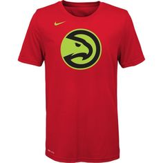Nike Youth Atlanta Hawks Dri-FIT Red Logo T-Shirt, Size: Medium, Team