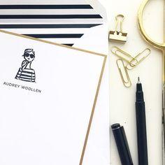 Personalized by @sugarpaperla (Regram from @urbanic) #letterpress #brushpen  by sophieandlili