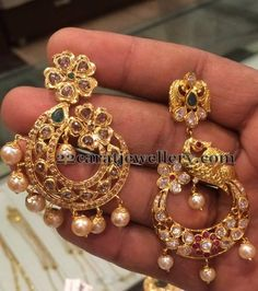 Jewellery Designs: 20 Grams Uncut Stones Chandbalis