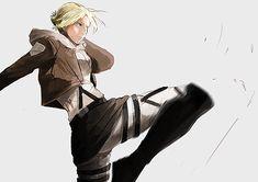 Mikasa, Armin, Annie Leonhart, Snk Annie, Aho Girl, Jiraiya Y Naruto, Female Titan, Kamigami No Asobi, Attack On Titan Fanart