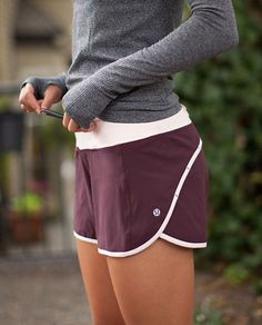 Turbo burgundy + heather athletic wear, athletic outfits, sport outfits, at Athletic Outfits, Athletic Wear, Sport Outfits, Cute Outfits, Running Outfits, Running Shorts Outfit, Athletic Shorts, Athletic Clothes, Cute Running Clothes